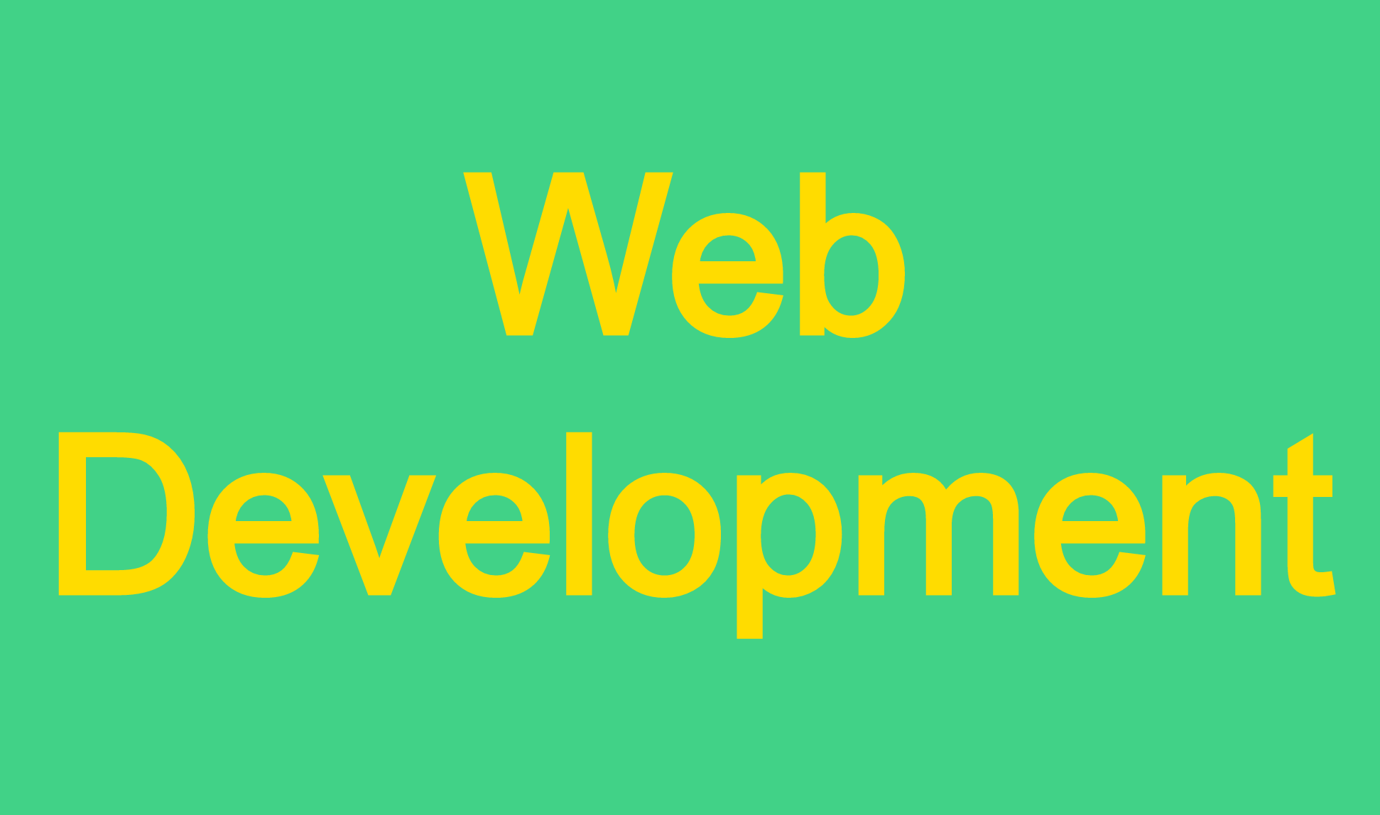 Back-End Web Development